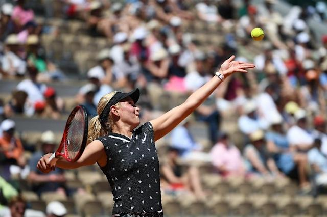 Croatia's Donna Vekic (pictured June 2, 2019) started her match against French eight seed Kristina Mladenovic on outdoor grass (AFP Photo/Anne-Christine POUJOULAT)