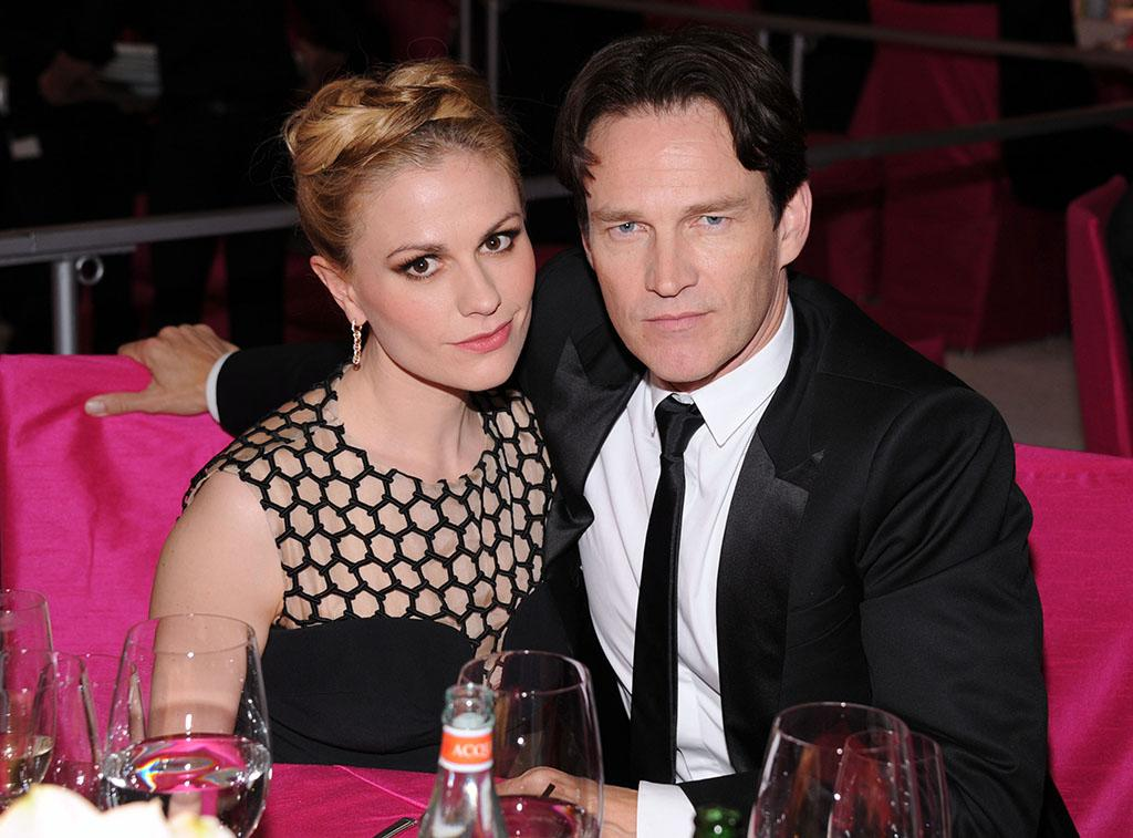 Anna Paquin and Stephen Moyer attend the 21st Annual Elton John AIDS Foundation Academy Awards Viewing Party at Pacific Design Center on February 24, 2013 in West Hollywood, California.