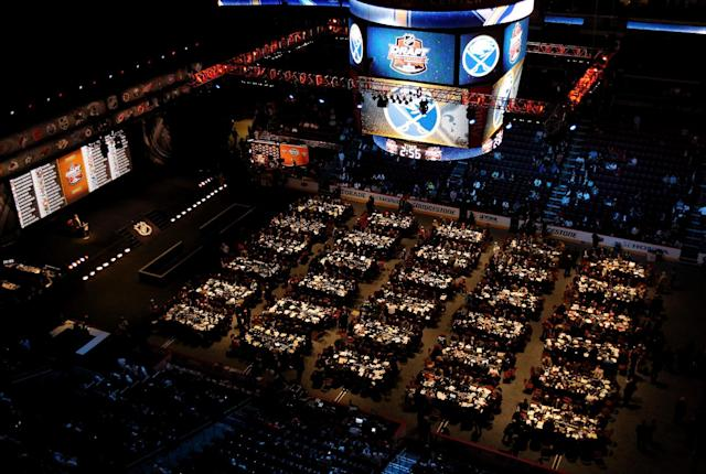 Day Two of the 2014 NHL Draft at the Wells Fargo Center on June 28, 2014 in Philadelphia, Pennsylvania (AFP Photo/Mitchell Leff)
