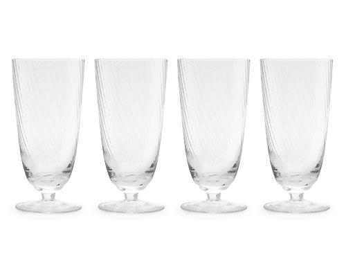 "<b>Set of Four Twisted Finish Large Champagne Flutes</b> <br><br>Designed in-house and exclusive to Indigo, this set of four Twisted Finish Champagne Flutes is perfect for holiday hosting or casual, fire-side gatherings. Each glass measures approximately 2 x 2 x 8-inches and is packaged in a 6 x 6 x 9.6 gift box. Suggested retail price $32.50, available in-store at Indigo locations across Canada and online at <a target=""_blank"" href=""http://www.chapters.indigo.ca/home/"">indigo.ca</a>."