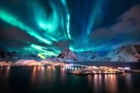 """Norway has been dropping in this ranking since 2017, when it held the top spot, and this year it comes in as the sixth-happiest country in the world. But there's not too much to complain about. The mix of a well-integrated government welfare system and a thriving economy built on responsible management of its natural resources (good riddance, <a href=""""http://www.cntraveler.com/stories/2016-06-08/norway-may-ban-fossil-fuel-powered-cars-by-2025?mbid=synd_yahoo_rss"""" rel=""""nofollow noopener"""" target=""""_blank"""" data-ylk=""""slk:fossil fuel-powered cars"""" class=""""link rapid-noclick-resp"""">fossil fuel-powered cars</a>) means that very few are left behind, and the feelings of social support, trust in government, and economic well-being that come from that all contribute to overall happiness."""
