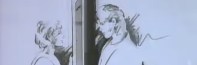 "Screenshot from A-ha's ""Take On Me"" video."
