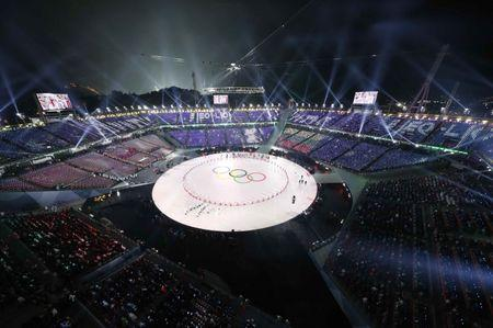 Pyeongchang 2018 Winter Olympics – Opening ceremony – Pyeongchang Olympic Stadium - Pyeongchang, South Korea – February 9, 2018 - A general view shows the opening ceremony. REUTERS/Pawel Kopczynski