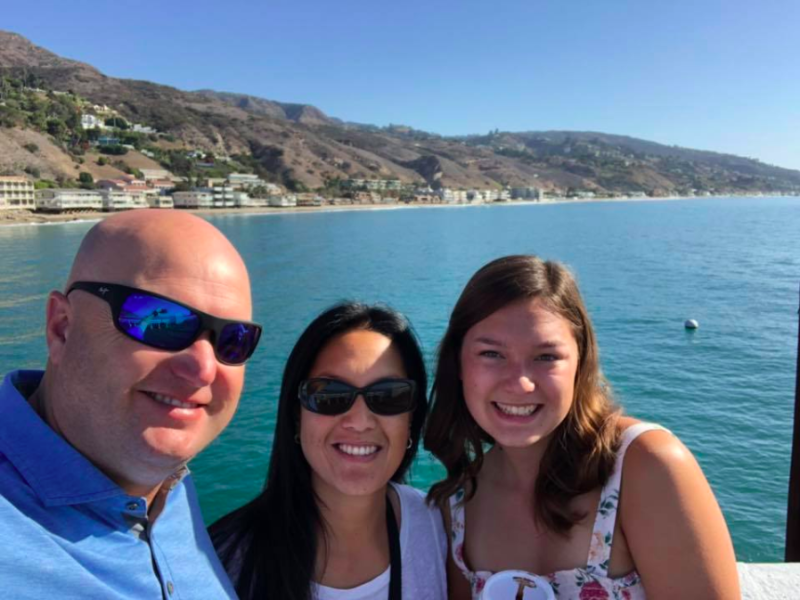 Alaina Housley, right, in an undated photo on Facebook. Housley was among those killed at a shooting in Thousand Oaks, California, on Wednesday. (Facebook)