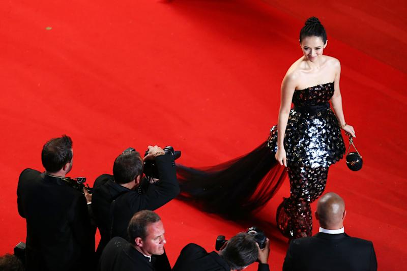 CANNES, FRANCE - MAY 22:  Zhang Ziyi attends the 'Only God Forgives' Premiere during the 66th Annual Cannes Film Festival at Palais des Festivals on May 22, 2013 in Cannes, France.  (Photo by Andreas Rentz/Getty Images)