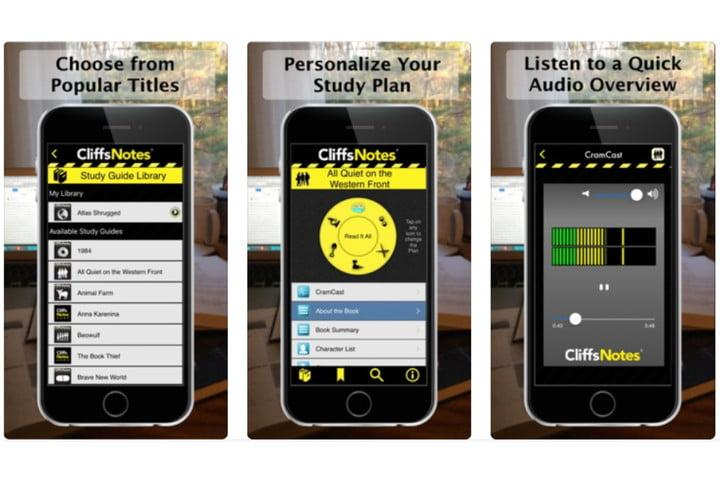 best apps for students cliffsnotes