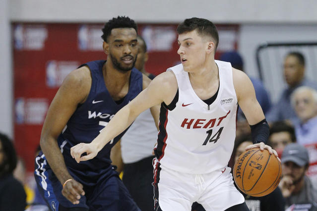 Tyler Herro is worth considering late in fantasy drafts this season. (Photo by Michael Reaves/Getty Images)