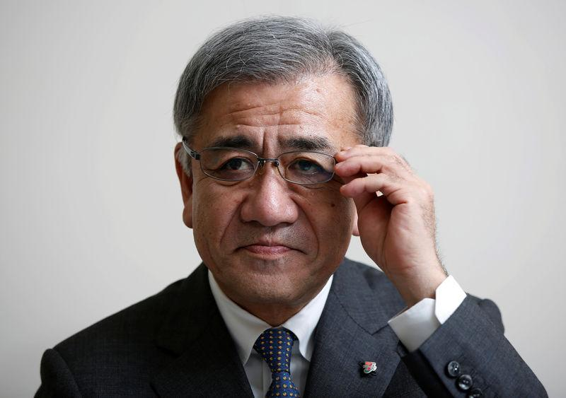 Seven & i Holdings Co. incoming President Ryuichi Isaka adjusts his glasses during an interview with Reuters at the company headquarters in Tokyo, Japan