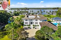 """<p><b>Location:</b> Jupiter Island, Florida</p> <p>The Hall of Fame golfer sold """"Tranquility,"""" his 10-bedroom, 18-bathroom <a href=""""https://homes.jillszeder.com/idx/details/listing/d016/A10988126/382-S-Beach-Rd-Hobe-Sound-FL-33455&featured=true"""" rel=""""nofollow noopener"""" target=""""_blank"""" data-ylk=""""slk:oceanfront mansion"""" class=""""link rapid-noclick-resp"""">oceanfront mansion</a> that he'd owned for 30 years for $59.9 million, after just two weeks on the market in February.</p> <p>""""There is no question that Tranquility is an exceptional property,"""" Norman, 66, told PEOPLE at the time. """"Its space, privacy, permanent vacation feel, and the exclusivity of Jupiter Island make it difficult to replace or replicate.""""</p> <p>After trying unsuccessfully to sell the two-story, 31,820-square-foot mansion in 2008, Norman completely rebuilt and renovated the estate — including the main home, pool house and beach house — which he bought for $4.9 million in 1991.</p> <p><a href=""""https://people.com/home/greg-norman-jupiter-island-florida-home-for-sale-golf/"""" rel=""""nofollow noopener"""" target=""""_blank"""" data-ylk=""""slk:See more photos of Greg Norman's home."""" class=""""link rapid-noclick-resp"""">See more photos of Greg Norman's home. </a></p>"""