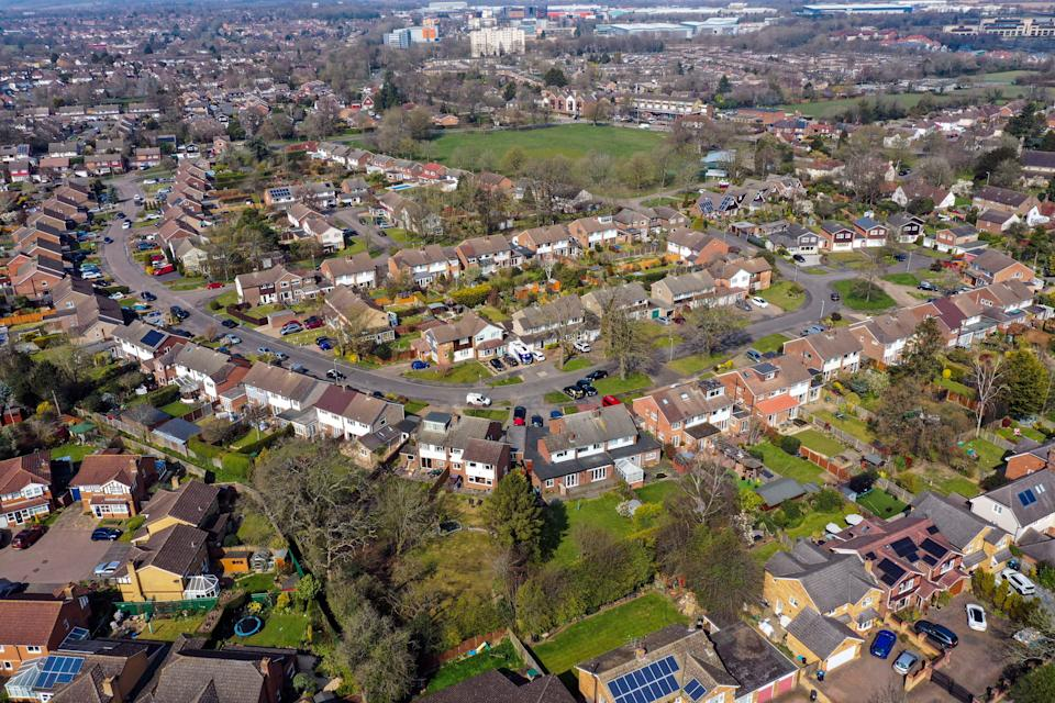 An aerial view of homes (PA Archive)