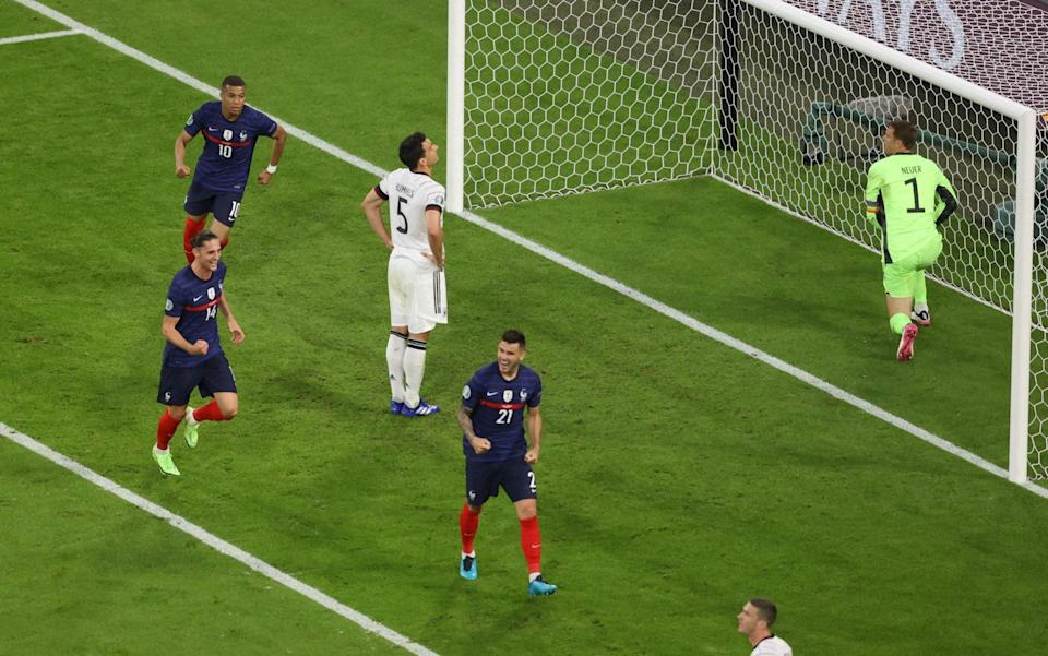 Mats Hummels looks gutted after gifting France an own goal - AFP