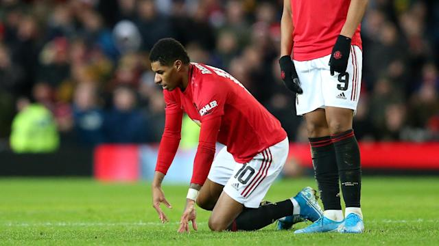 Marcus Rashford will undergo tests on his back before a key trip to Liverpool, Manchester United manager Ole Gunnar Solskjaer confirmed.