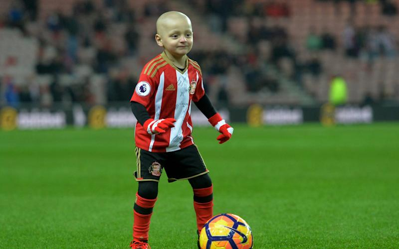 Bradley Lowery has collected a Child of Courage award - Credit: PA