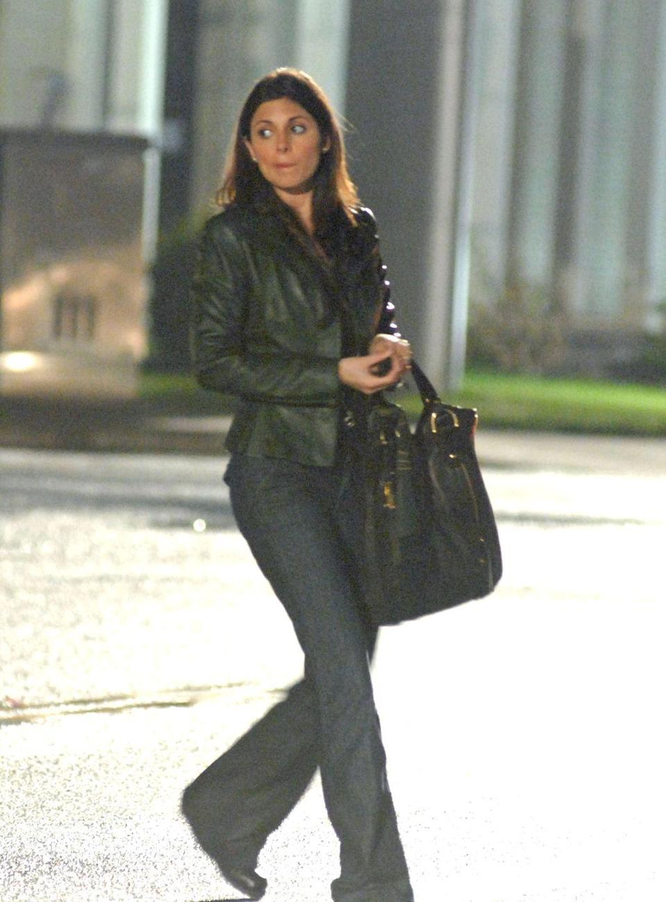 """<p>Jamie-Lynn Sigler films her last scene for the series outside of Holsten's. After the finale aired, she suggested Meadow Soprano might be headed to mob life. """"The ending was, you know, a turn. It seems the best theory, I mean, she's talking about how she doesn't like how Italian Americans are treated,"""" she told <a href=""""https://www.vulture.com/2007/06/the_sopranos_cast_watches_the.html"""" rel=""""nofollow noopener"""" target=""""_blank"""" data-ylk=""""slk:Vulture"""" class=""""link rapid-noclick-resp"""">Vulture</a>.</p>"""