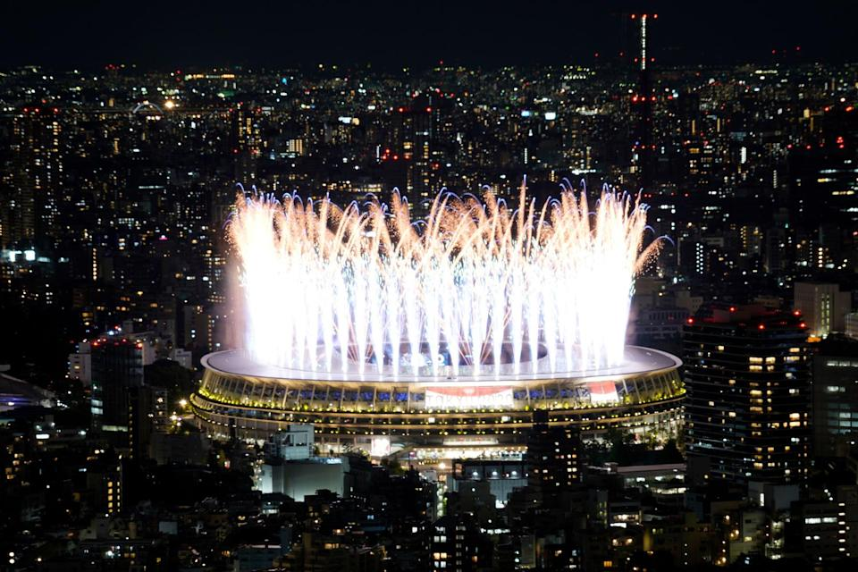 """<p>The <a href=""""https://people.com/sports/tokyo-olympics-opening-ceremony-amid-covid-state-of-emergency/"""" rel=""""nofollow noopener"""" target=""""_blank"""" data-ylk=""""slk:Tokyo Olympics are officially underway"""" class=""""link rapid-noclick-resp"""">Tokyo Olympics are officially underway</a>! After being delayed for one year due to the <a href=""""https://people.com/tag/coronavirus/"""" rel=""""nofollow noopener"""" target=""""_blank"""" data-ylk=""""slk:COVID-19 pandemic"""" class=""""link rapid-noclick-resp"""">COVID-19 pandemic</a>, more than 11,000 athletes from 206 nations attended the opening ceremony, which was themed """"United by Emotion,"""" at Olympic Stadium, where Emperor Naruhito formally opened the Games of the XXXII Olympiad.</p>"""