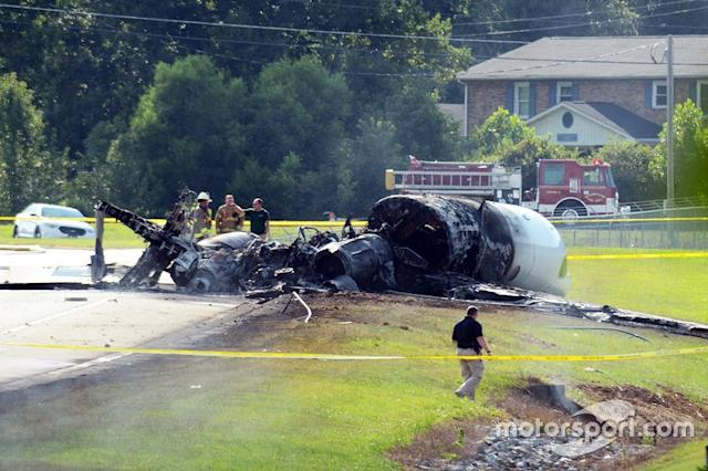 "Dale Earnhardt Jr. plane crash wreckage <span class=""copyright"">Jerry Jordan - KickinTheTires.net</span>"