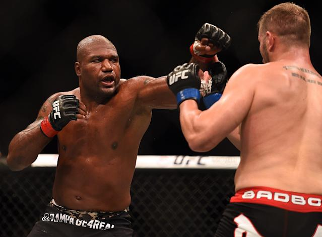 Quinton 'Rampage' Jackson (L) has already accomplished more than enough to be considered an all-time great. (Jeff Bottari/Zuffa LLC/Zuffa LLC via Getty Images)