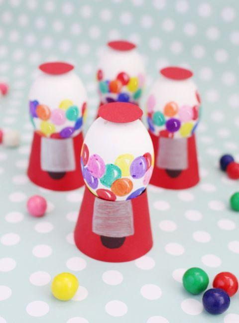 "<p>These bright decorations feature blown out eggs so you can reuse them for birthday celebrations, kid's parties, and Easter next year.</p><p><strong>Get the tutorial at <a href=""http://www.ajoyfulriot.com/2015/03/19/gumball-machine-easter-eggs/"" rel=""nofollow noopener"" target=""_blank"" data-ylk=""slk:A Joyful Riot"" class=""link rapid-noclick-resp"">A Joyful Riot</a>.</strong></p>"