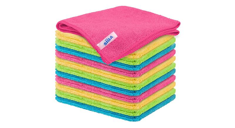 MR.SIGA Microfiber Cleaning Cloth, Pack of 12