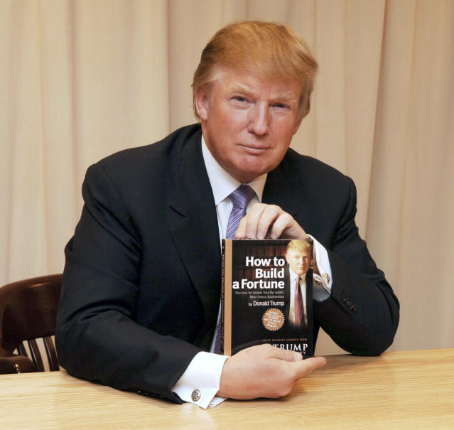 "<p>Donald Trump signs copies of his audiovisual course ""How to Build a Fortune,"" on Jan. 10, 2006.<i> (Photo: Jemal Countess/WireImage)</i> </p>"
