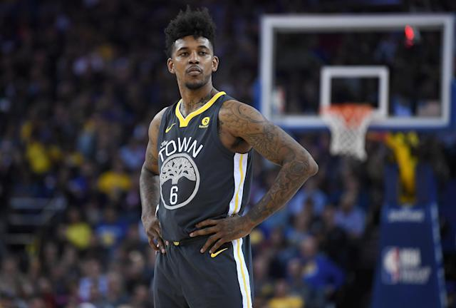 "Nick Young won his first NBA title with the <a class=""link rapid-noclick-resp"" href=""/nba/teams/gsw"" data-ylk=""slk:Golden State Warriors"">Golden State Warriors</a>. (Getty)"