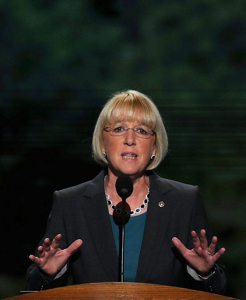 """<a href=""""http://www.senate.gov/artandhistory/history/common/briefing/women_senators.htm""""><strong>Served from:</strong></a> 1993-present Sen. Patty Murray (D-Wash.) speaks during day two of the Democratic National Convention on September 5, 2012 in Charlotte, N.C. (Photo by Alex Wong/Getty Images)"""
