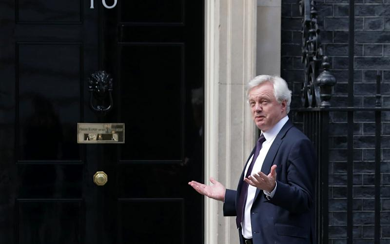 British Secretary of State for Exiting the European Union David Davis - Credit: DANIEL LEAL-OLIVAS/AFP