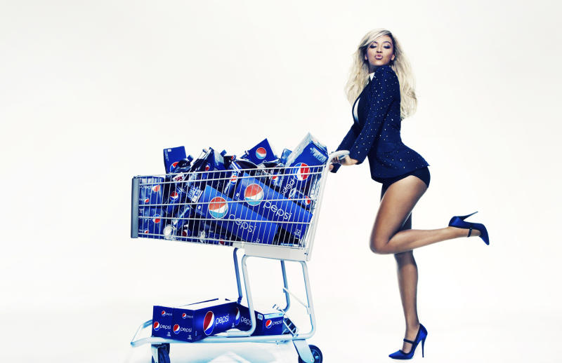 "This Oct. 23, 2012 publicity photo provided by Pepsi shows Beyonce during a Pepsi Print photo shoot at Canoe Studios in New York. This image will appear as life-size standees in stores starting first quarter 2013, as an extension of the brand's ""Live For Now"" campaign. Through a photo contest, 100 fans will join Beyonce onstage during the singer's halftime show performance at the 2013 Super Bowl on Feb. 3, 2013, at the Mercedes-Benz Superdome in New Orleans. (AP Photo/Pepsi, Patrick Demarchelier)"