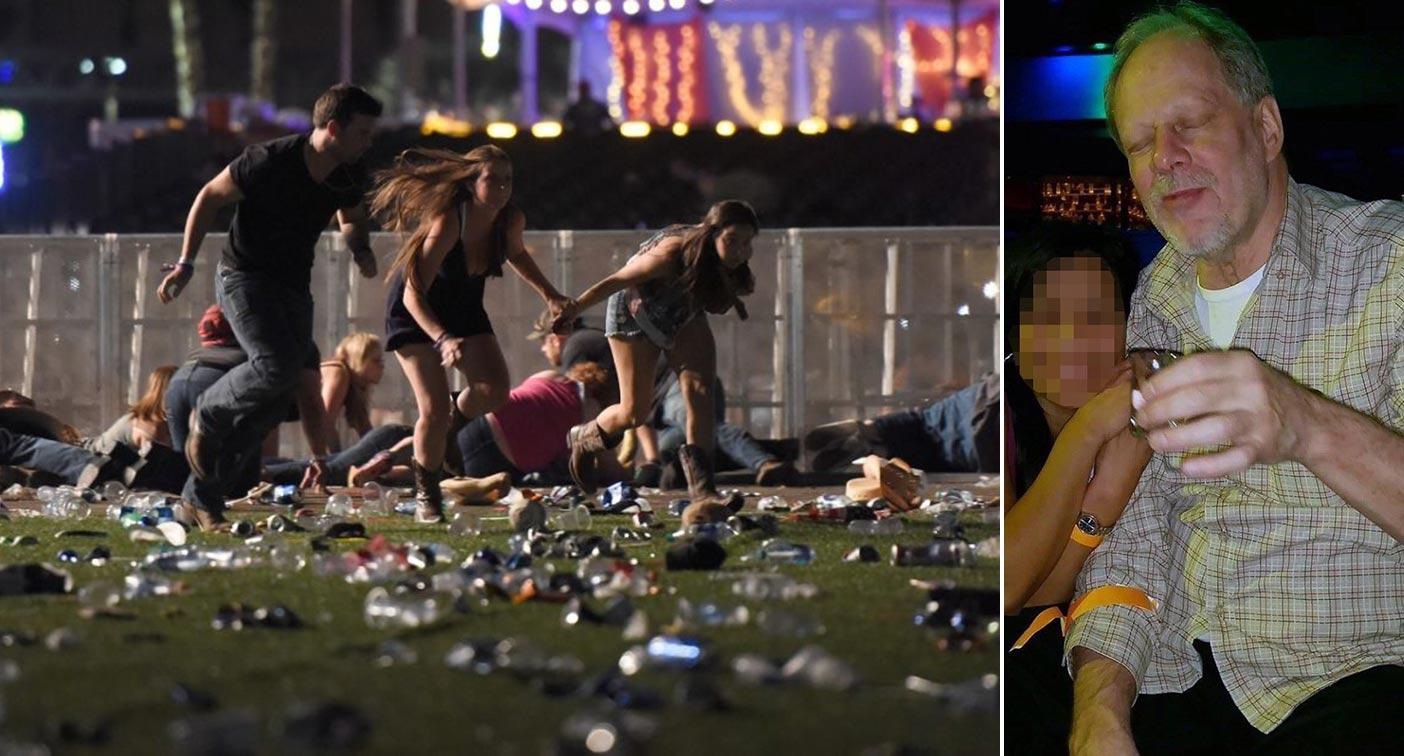 Stephen Paddock, pictured right, fired hundreds of shots from his hotel room at music-goers (Picture: Getty)