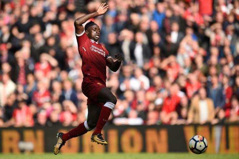Liverpool's Sadio Mane chases the ball during their English Premier League match against Crystal Palace, at Anfield in Liverpool, on August 19, 2017