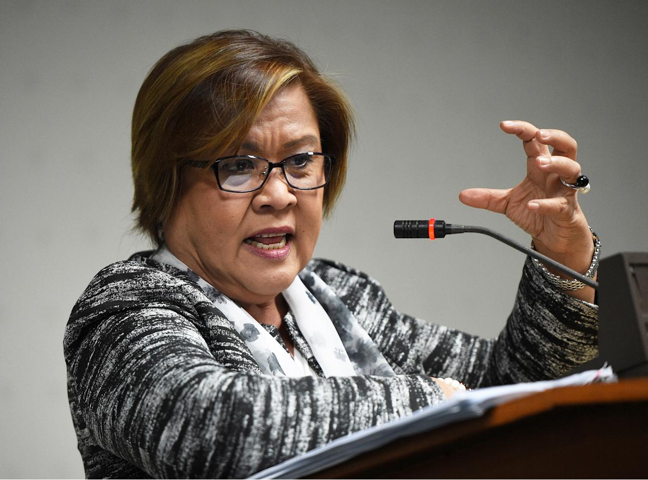 "<p>Since last June, when Rodrigo Duterte became president of the Philippines, at least 3,600 people have been killed by police or vigilantes in a vicious war on drugs, according to human rights groups. One of Duterte's staunchest critics is Senator de Lima, who has vowed to maintain the rule of law in the Philippines and investigate these extrajudicial killings. In response, the president's supporters have falsely accused the senator of being involved in drug trafficking herself and arrested her last week in what appears to be a politically motivated attempt to silence her. De Lima issued a statement saying, ""If they think that by jailing me, I will turn my back on my principles, they are mistaken. Instead, they have encouraged me more to pursue truth and justice.""</p>"