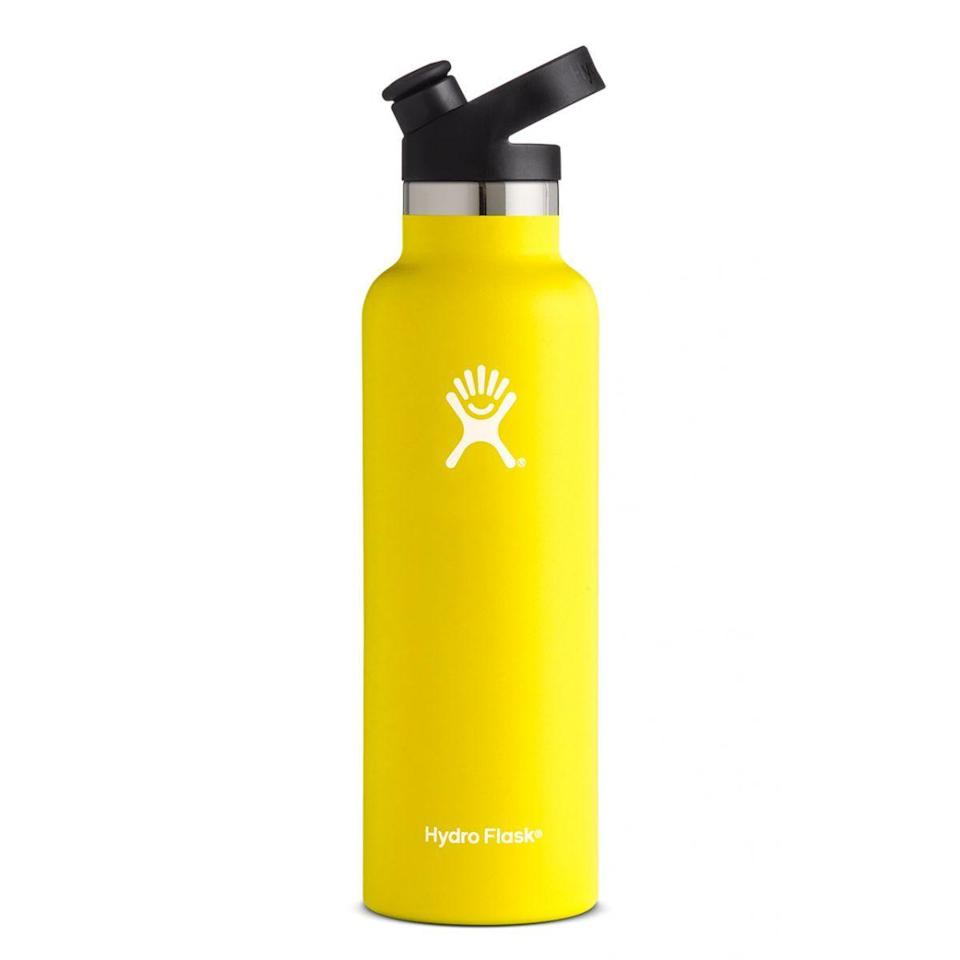 """<p><strong>Hydro Flask</strong></p><p>hydroflask.com</p><p><a href=""""https://go.redirectingat.com?id=74968X1596630&url=https%3A%2F%2Fwww.hydroflask.com%2Fcatalog%2Fproduct%2Fview%2Fid%2F1739%2Fs%2Fhydro-flask-21-oz-standard-mouth-w-sport-cap-lemon%2Fcategory%2F70%2F&sref=https%3A%2F%2Fwww.runnersworld.com%2Fgear%2Fg32969897%2Fhydro-flask-sale-50-percent-off%2F"""" rel=""""nofollow noopener"""" target=""""_blank"""" data-ylk=""""slk:Shop Now"""" class=""""link rapid-noclick-resp"""">Shop Now</a></p><p><del>$35.95<strong><br></strong></del><strong>$26.96</strong></p><p>Decked out with a secure, sport cap closure, this option is the perfect companion for your runs.</p>"""
