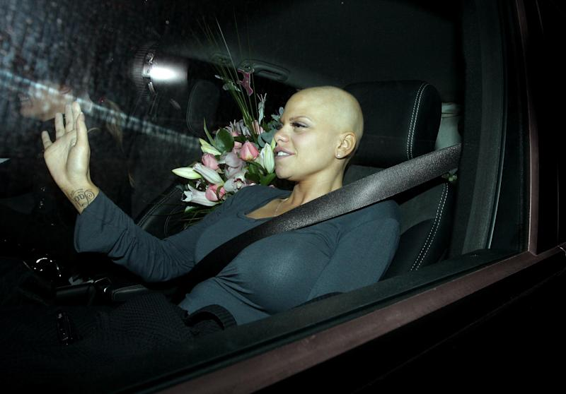 Jade Goody arrives at her home in Upshire, Essex, following her wedding to Jack Tweed yesterday. (Photo by Dominic Lipinski - PA Images/PA Images via Getty Images)