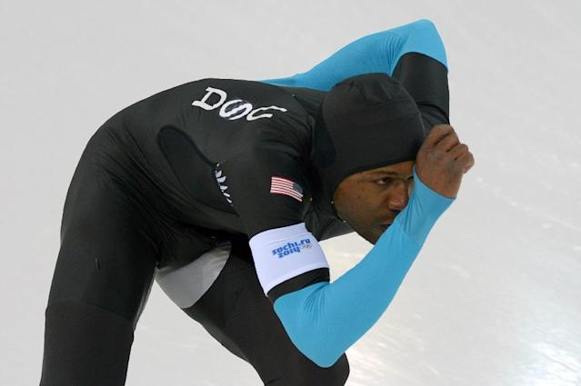 Shani Davis faced a backlash from US teammates Saturday after complaining about losing a coin toss to choose the American flagbearer for the Olympic opening ceremony (AFP Photo/DAMIEN MEYER)