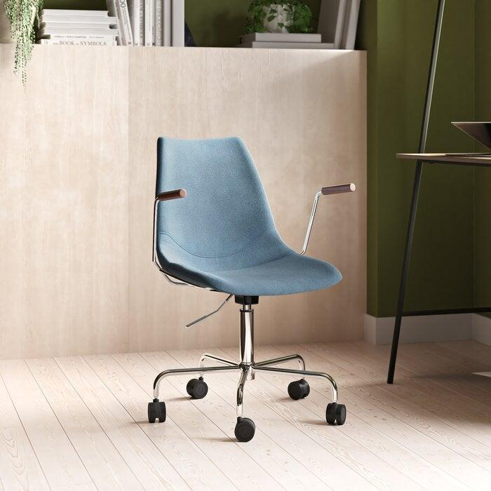 """<h2>AllModern Cabrera Task Chair</h2> <strong>Best For: Easy Assembly </strong> <br>This super sleek and Scandi-vibe task chair combines a sturdy stainless-steel frame with a supportive bucket-style seat that's filled with comfy foam cushioning for your WFH behind — oh, and, according to reviewers, it's also very easy to put together.<br><br><strong>The Hype:</strong> 4.9 out of 5 stars and 14 reviews on <a href=""""https://www.allmodern.com/furniture/pdp/cabrera-task-chair-a000572633.html"""" rel=""""nofollow noopener"""" target=""""_blank"""" data-ylk=""""slk:AllModern"""" class=""""link rapid-noclick-resp"""">AllModern</a><br><br><strong>Comfy Butts Say: </strong>""""Easy to install, comfortable, and love the simple style."""" and """"I purchased this chair to work at home in (I needed something comfortable as I am sitting for many hours and have a heavy bottom). This chair is amazing, very comfortable, easy to assemble and it looks beautiful with my desk in my bedroom. It's a perfect size and does not take up much space. Very satisfied with my purchase!!""""<br><br><br><br><strong>AllModern</strong> Cabrera Task Chair, $, available at <a href=""""https://go.skimresources.com/?id=30283X879131&url=https%3A%2F%2Fwww.allmodern.com%2Ffurniture%2Fpdp%2Fcabrera-task-chair-a000572633.html"""" rel=""""nofollow noopener"""" target=""""_blank"""" data-ylk=""""slk:AllModern"""" class=""""link rapid-noclick-resp"""">AllModern</a><br><br><br><br><br><br><br>"""