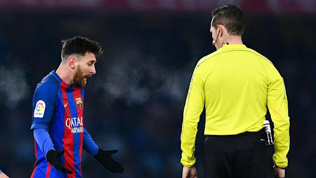 Lionel Messi is serving a four-match ban for Argentina and must sit out Barcelona's trip to Granada but Luis Enrique praised his conduct.