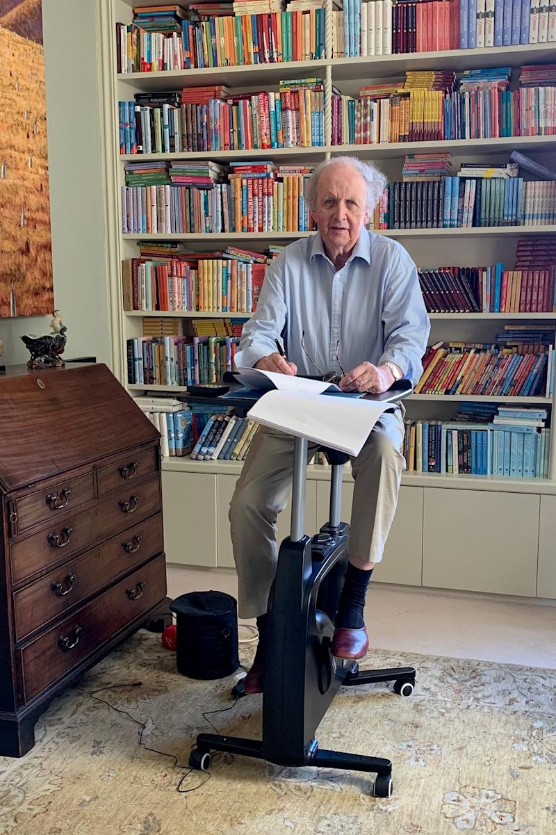 """Alexander McCall Smith, multitasking in quarantine as he revises his next """"No. 1 Ladies' Detective Agency"""" novel."""