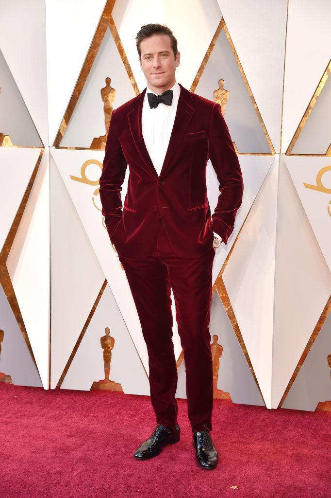 <p>Armie Hammer attends the 90th Academy Awards in Hollywood, Calif., March 4, 2018. (Photo: Getty Images) </p>