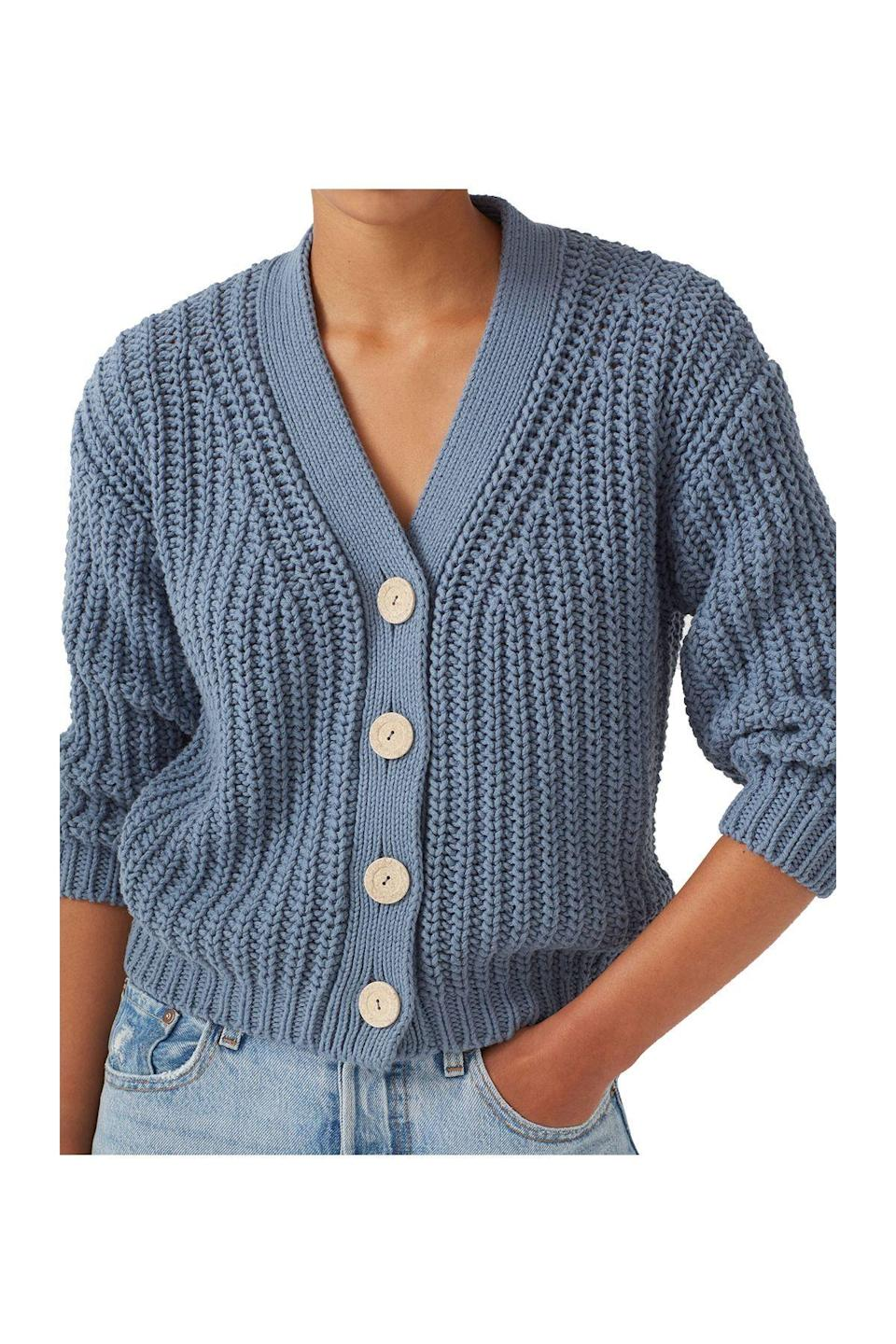"""<p><strong>Babaa</strong></p><p>babaa.es</p><p><strong>$230.00</strong></p><p><a href=""""https://babaa.es/shop/women/women-cardigans/cardigan-woman-no18-mini-midnight-ocean/"""" rel=""""nofollow noopener"""" target=""""_blank"""" data-ylk=""""slk:Shop Now"""" class=""""link rapid-noclick-resp"""">Shop Now</a></p>"""