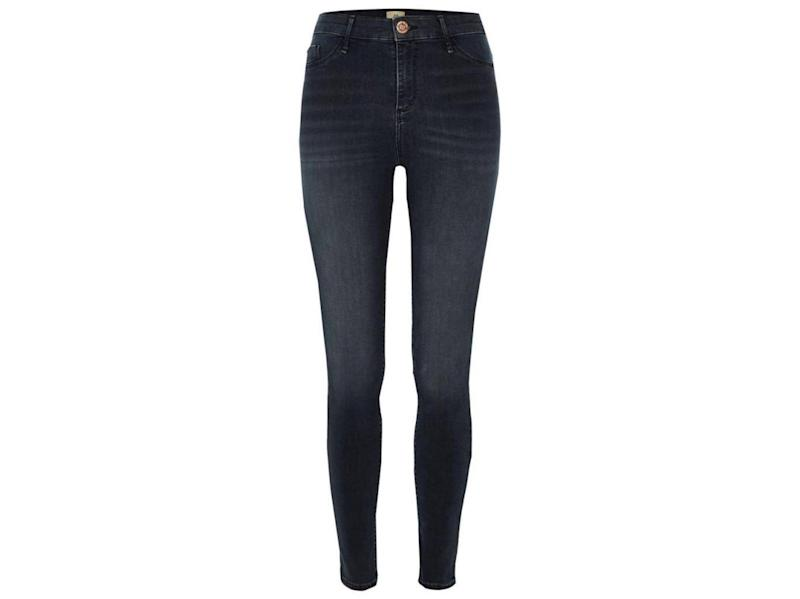Dark Grey Molly Mid Rise Jeggings, £40, River Island