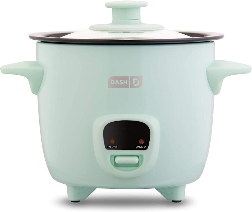 <p>This <span>Dash Mini Rice Cooker Steamer</span> ($20) is both cute and handy.</p>