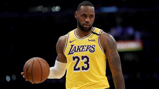 Los Angeles Lakers star LeBron James climbed into third for most all-time points in the NBA.