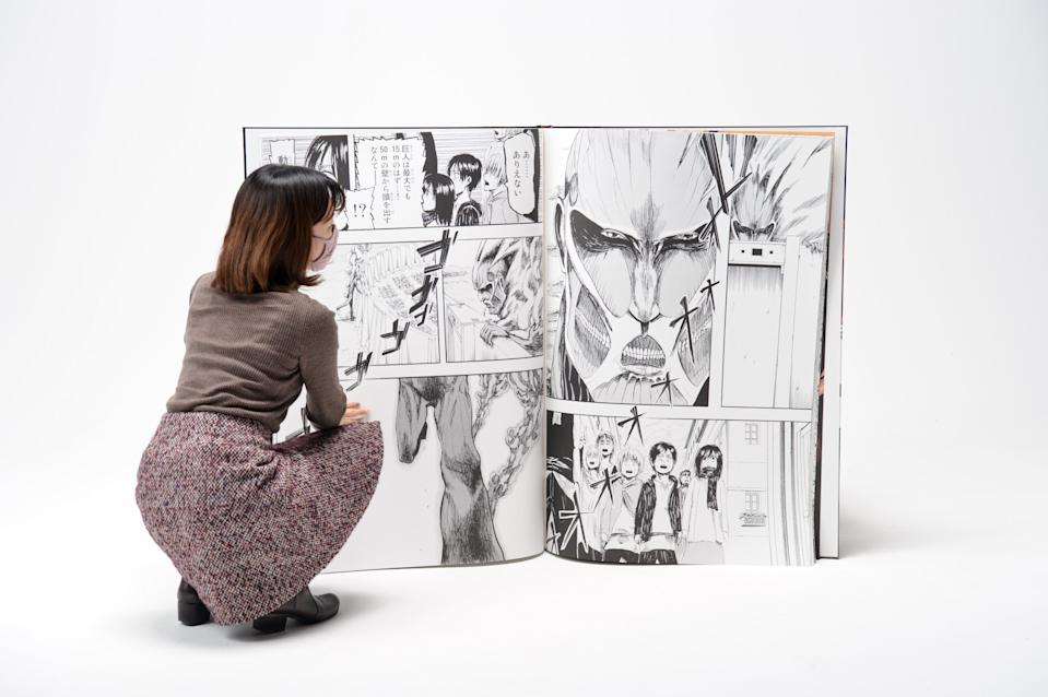 Attack On Titan's Guinness World Record-breaking edition is the world's largest published comic book. It was published to promote the 34th volume of the popular manga series. (Photo: Guinness World Records)