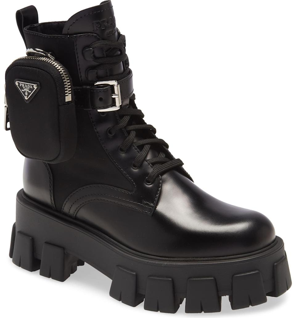 <p>These <span>Prada Monolith Mini Bag Lug Sole Combat Boot</span> ($1,420) are practically perfect in every way. They're a dream come true.</p>