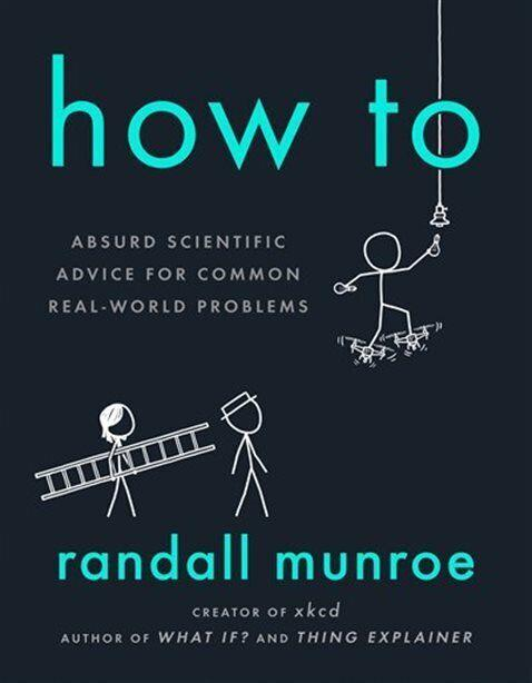 """This book, by Randall Munroe, offers the most ridiculous never-try-this-at-home solutions for the most simple, inane problems. Want to take a selfie? You don't need your phone; instead, dust off that telescope. Want to know the weather for this weekend? Don't open the app; analyze the pixels of your Facebook photos instead. <a href=""""https://www.chapters.indigo.ca/en-ca/books/how-to-absurd-scientific-advice/9780525537090-item.html"""" target=""""_blank"""" rel=""""noopener noreferrer"""">Get it for $33 at Indigo.</a>"""