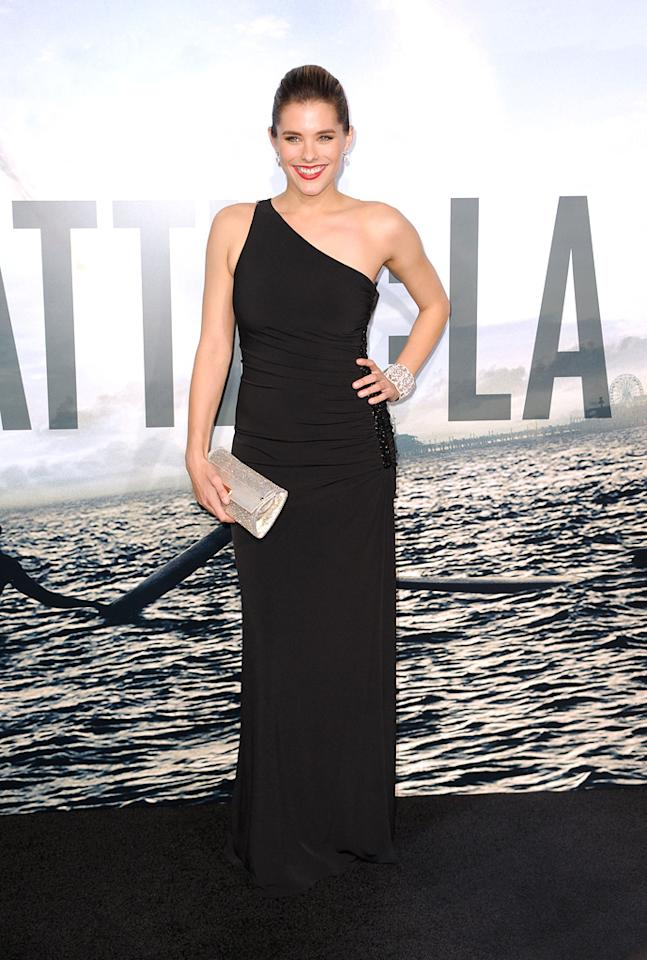 """<a href=""""http://movies.yahoo.com/movie/contributor/1809747401"""">Susie Abromeit</a> at the Los Angeles premiere of <a href=""""http://movies.yahoo.com/movie/1810119633/info"""">Battle: Los Angeles</a> on March 8, 2011."""
