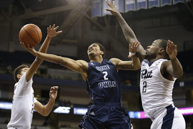 "<a class=""link rapid-noclick-resp"" href=""/ncaab/players/132152/"" data-ylk=""slk:Marcus Evans"">Marcus Evans</a> averaged 19 points per game at Rice last season. (AP)"
