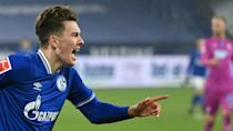Matthew Hoppe scored a stunning hat-trick as Schalke avoided matching the Bundesliga record for the most consecutive games without winning