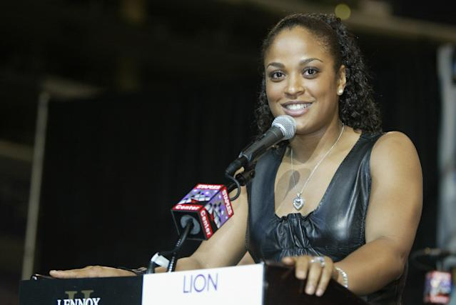 Laila Ali went 24-0 with 21 knockouts during her boxing career. (Photo by Jeff Gross/Getty Images)