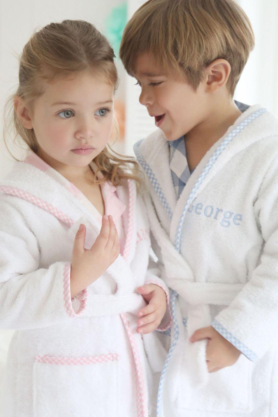 """<p>What do you wear to meet the American president? Some stylish nightwear of course. Prince George met Barack Obama in 2016 in a gingham trim dressing gown, personalised with his name, from My 1st Years. The brand is renowned for its customised baby gifts and sells everything from rucksacks to soft toys – all of which can be named.</p><p><a class=""""link rapid-noclick-resp"""" href=""""https://www.my1styears.com/"""" rel=""""nofollow noopener"""" target=""""_blank"""" data-ylk=""""slk:SHOP NOW"""">SHOP NOW</a></p>"""